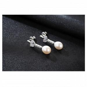 cercei perle albe Sandra