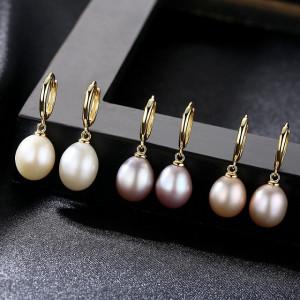 cercei argint perle bianca