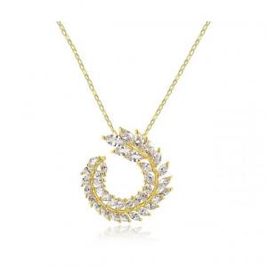 Colier Swarovski Crystals Tresor D'or Auriu