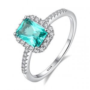 Inel Argint verde Irresistible