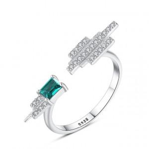 Inel din argint cu Topaz Verde Smarald Eliana