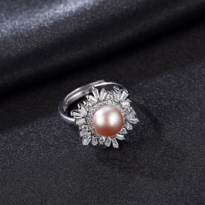 Inel perla naturala mov Vittoria