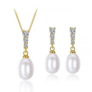 Set bijuterii argint cu perle naturale Mariah