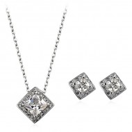 Set cercei si colier Lorelei Diamonds