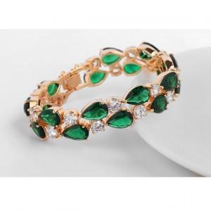 Bratara Felice Emerald Green Crystal