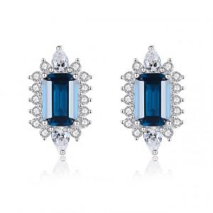 Cercei albastri argint Elena