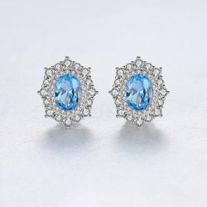 cercei argint piatra albastra