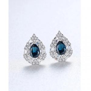 Cercei argint albastri