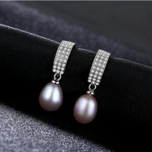 Cercei perle naturale mov Promesse