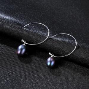 Cercei perle negre