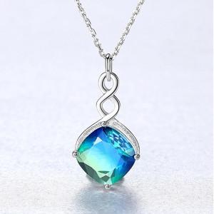 Colier argint cu Cristal Bicolor Lorelai