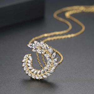 Colier Auriu Swarovski Crystals Tresor