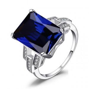Inel AG925 albastru Briana