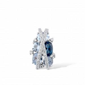 colier ag925 royal blue grace
