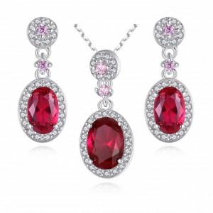 Set bijuterii AG925 roz intens Agnesa