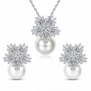 Set bijuterii elegant cu perle Emelia