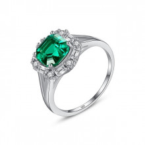 Inel argint 925 Lady Emerald