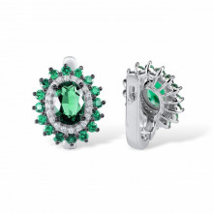 cercei argint piatra verde