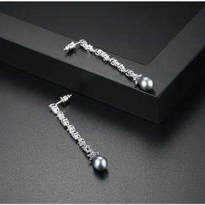 Cercei cu perle negre Davina