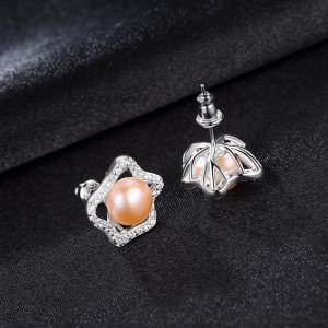 cercei din argint cu perle