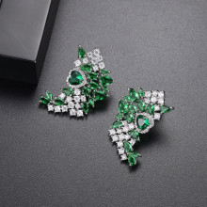 cercei eleganti verzi