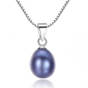 Colier AG925 perla neagra Carla