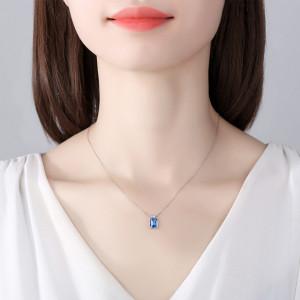 colier din argint albastru Elsa