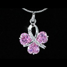 Colier Lucky Love Pink Crystals