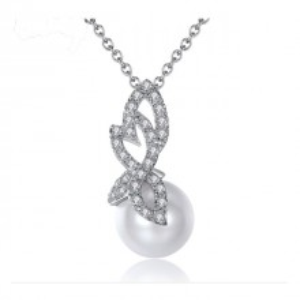 Colier Claire cu perle si cristale