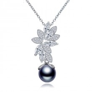 Colier cu perla neagra Mystic Dark Pearl
