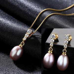 Bijuterii perle naturale mov Mariah
