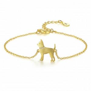 Bratara argint aurit Caine Stilat Chihuahua