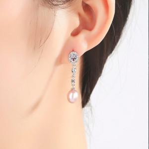 Cercei perle naturale Scarlet