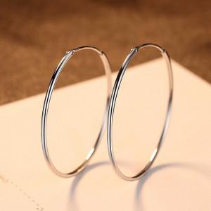 Cercei rotunzi mici din argint Eva - 2 cm