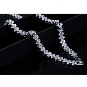 Cercei si colier cu cristale swarovski Althea