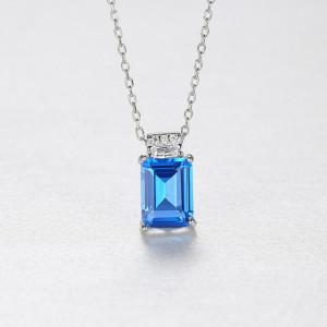 colier albastru Elsa