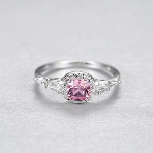 inel roz argint