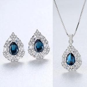 Set bijuterii argint Ariana Blue