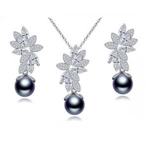 Set de bijuterii cu perla neagra Mystic Dark Pearl