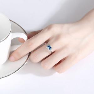 Set din argint cu cercei si inel Elena