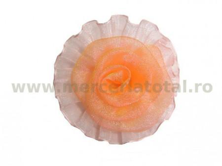 Floare organza corai