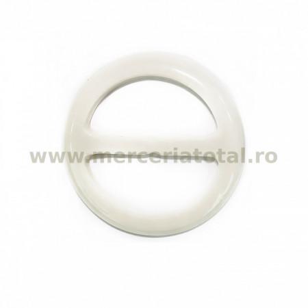 Catarama plastic rotunda 30mm alb