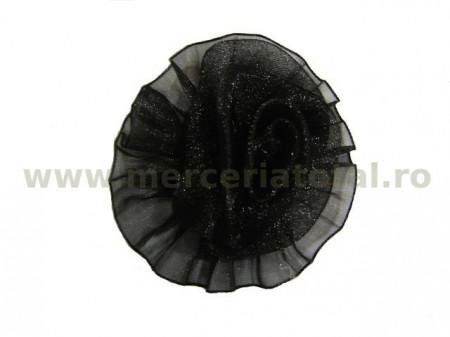 Floare organza negru