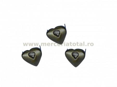 "Tinte metalice inimioare 14/15mm ""bronz"""