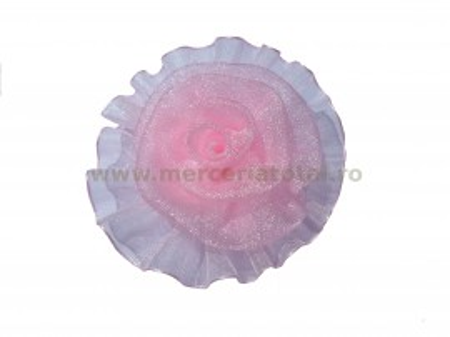 Floare organza roz