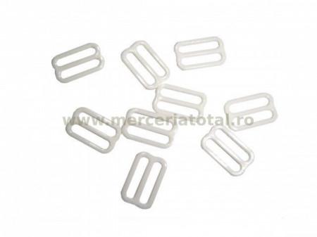 Reglor papion plastic 15mm alb