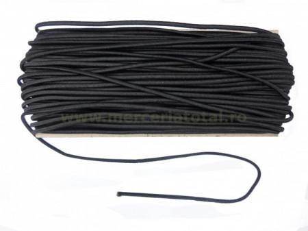 elastic rotund negru