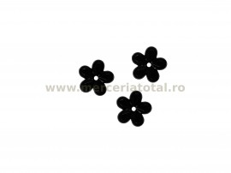 Stras floare negru