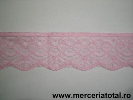 Dantela 50mm roz