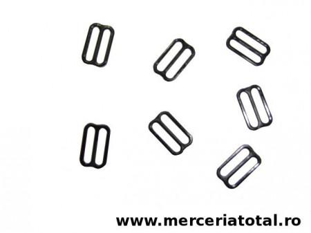 Reglor papion plastic 15mm negru